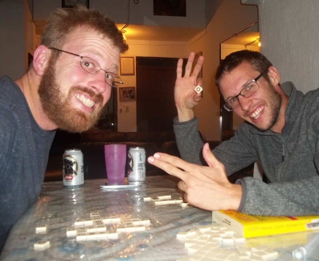 Bananagrams is the best game! We played a ton and in Spanish! Here with Frenchman extraordinaire Thibeau