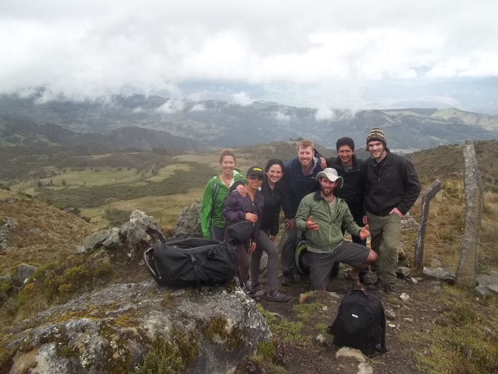 "A ""last of"" Bogotá pic. Some of the gang and I hiking outside of Monquí."